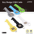 High Quality Portable USB 8CM Mini Data Sync Charger Cable Key Ring for iPhone 7