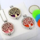 Unisex Hollow Life Tree Circle Open Aromatherapy Noctilucent Pendant Necklace