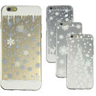 New Christmas Gift Snowflake Design Soft Back Case Cover For iPhone 6/6S 7 7Plus