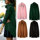 Womens Turtleneck Knit Casual Long Sleeve Pullover Outwear Loose Sweater Dress
