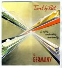 Travel by Rail in Germany Brochure 1950's Maps and Information