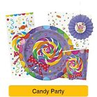Candy Party Birthday Party Items (Unique) Tableware/Decorations/Banner/Sweets