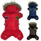 New Pet Dog Warm Winter Coat Jacket USA AIR FORCE Waterproof Puppy Hoody Clothes