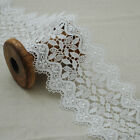 Guipure Lace Trim - Floral Flower Bridal Trimming - White - 8.4cm Wide - GLW03