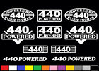 10 DECAL SET 440 CI V8 POWERED ENGINE MAGNUM STICKERS EMBLEMS VINYL DECALS