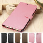 Leather Flip Wallet Phone Case Stand Cover+Screen Protector for iPhone 7/7 Plus