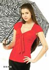 BLOUSE STRETCH SUMMER TOP SOLID NATURAL CAP SLEEVE MADE IN EUROPE S M L XL 2XL