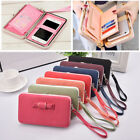 Wallets Women Long Card Holde Bowknot Large Capacity Purse Cellphone Pocket Bag