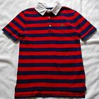 BOYS M 10/12 OR L 14/16 RALPH LAUREN STRIPED COTTON RUGBY POLO NWT