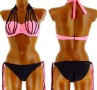 Bikini swimsuit - FICELLA - Push up Couture Sexy Pink and Pink Black