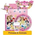 Disney PRINCESS & ANIMALS Birthday Party Range - Tableware Supplies Decorations