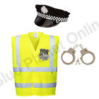 MENS ADULTS POLICEMAN POLICE COP FANCY DRESS COSTUME UNIFORM OUTFIT S-XL