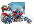 SUPERMAN Party Pack {Tablecover/Cups/Plates/Napkins} (Birthday/DC Comics)