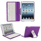 Bluetooth Wireless Keyboard Swivel Rotary Stand Cover Case For iPad Mini 1 2 3