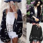 Women BOHO Summer Hippie Floral Kimono Cardigan Jacket Tops Beach Shawl Cape
