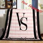 2016 Vixtoria's Smooth coral fleece blankets Flannel VS catwalk Fast Shipping