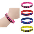 1 Pc Silicone Rubber Bracelet Unisex Wristband Cuff Bangle Multicolor Jewelry