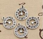 50 pcs antiqued silver Clocks and watches pendants Diy jewelry accessoriess