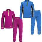 Trespass Bubbles Kids Fleece Base Layer Set Girls Boys Thermal Top and Leggings