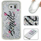 New Bling Dynamic Liquid Quicksand Glitter Soft TPU Case Cover For Samsung Phone