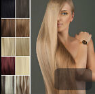 7 pcs set 70g black blonde red 100% Remy Clip In Real Remy Human Hair Extensions