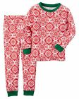 NEW Carter's 2 Piece Red & White Floral Holiday Pajamas NWT 4T 6 7 8 Girl