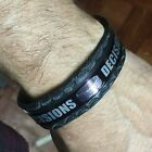 "Bondage themed leather bracelet cuff Decisions whip rope handcuffs 1"" wide"