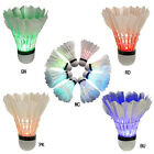 Dark Night Colorful LED Badminton Feather Shuttlecock Shuttlecocks 4Pcs/Pack