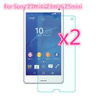 2-Pack Tempered Glass Screen Protector Protective Guard For Sony Xperia Models
