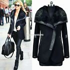 New Ladies Parka Fleece Faux Fur Warm Womens Long Parka Jacket Top Trench Coat