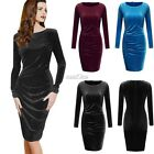 New Sexy Women Long Sleeve Pencil Bandage Bodycon Party Cocktail Mini Dress S0BZ