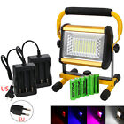 DHL SHIPPING 100W 100 LED Rechargeable Flood Spot Work Light 6x 18650 + Charger