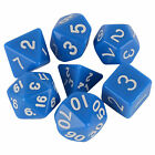 7x 7 Sides Polyhedral Dice Set D4-D20 Dungeons and Dragons DND MTG RPG Game