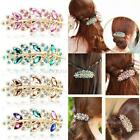 Chic Women Classical Fashion Hair Clip Leaf Crystal Rhinestone Barrette Hairpin