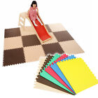 8pcs Eva Soft Foam Exercise Floor yoga Mat Gym Kids Play Mats with Edging Strips