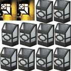 10 PCS Outdoor Garden Solar Powered Wall Mount LED Landscape Fence Yard Light