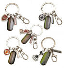 Official Football Club - Metal 3 Charm Keyring (Stadium/Crest) (Keys/Bag/Gift)