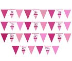 ly PINK/Girl Alter Geburtstags Party Papier Flagge Banner Girlande 3,7 m