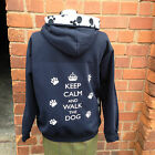 ZIP UP keep calm and walk the dog   hoodies, sweatshirt  navy/paw print