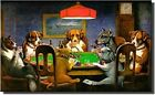 Dogs Playing Poker, Ace in the Paw Wall Picture on Stretched Canvas, Wall Decor