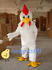 Top Selling Cute white big rooster  Mascot Costume for party S M L high quality