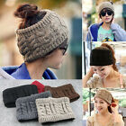 Womens Men Knitted Crochet Wide Headband Headwrap Hairband Sacrf Hat Accessories