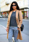 H&M Trend Wool Blend Belted Smart Coat Camel New UK 14 EU 40