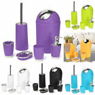 6Pcs Bathroom Accessory Set Tumbler Toothbrush Holder Bin Soap dish trash can