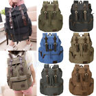 Men Women Aged Army Canvas Backpack Rucksack School Satchel Travel Hiking Bag