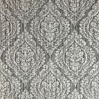 Wallpaper gray rustic wallcovering textured vintage retro diamond damask 3D roll