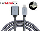 Heavy Duty Nylon Braided USB 3.1 Type-C Data Sync Charger Charging Cable Genuine