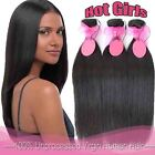 7A 50-200g Real Virgin 100% Human Hair Weave Weft Extensions Natural Black BS001