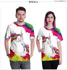 Summer Unsex Short Sleeve T Shirt Unicorn Pattern Camisetas Mujer Tees Shirt