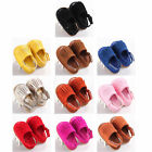 Toddler Baby Girls Tassel Leather Summer Sandals Soft Sole Shoes For 6-15 Months